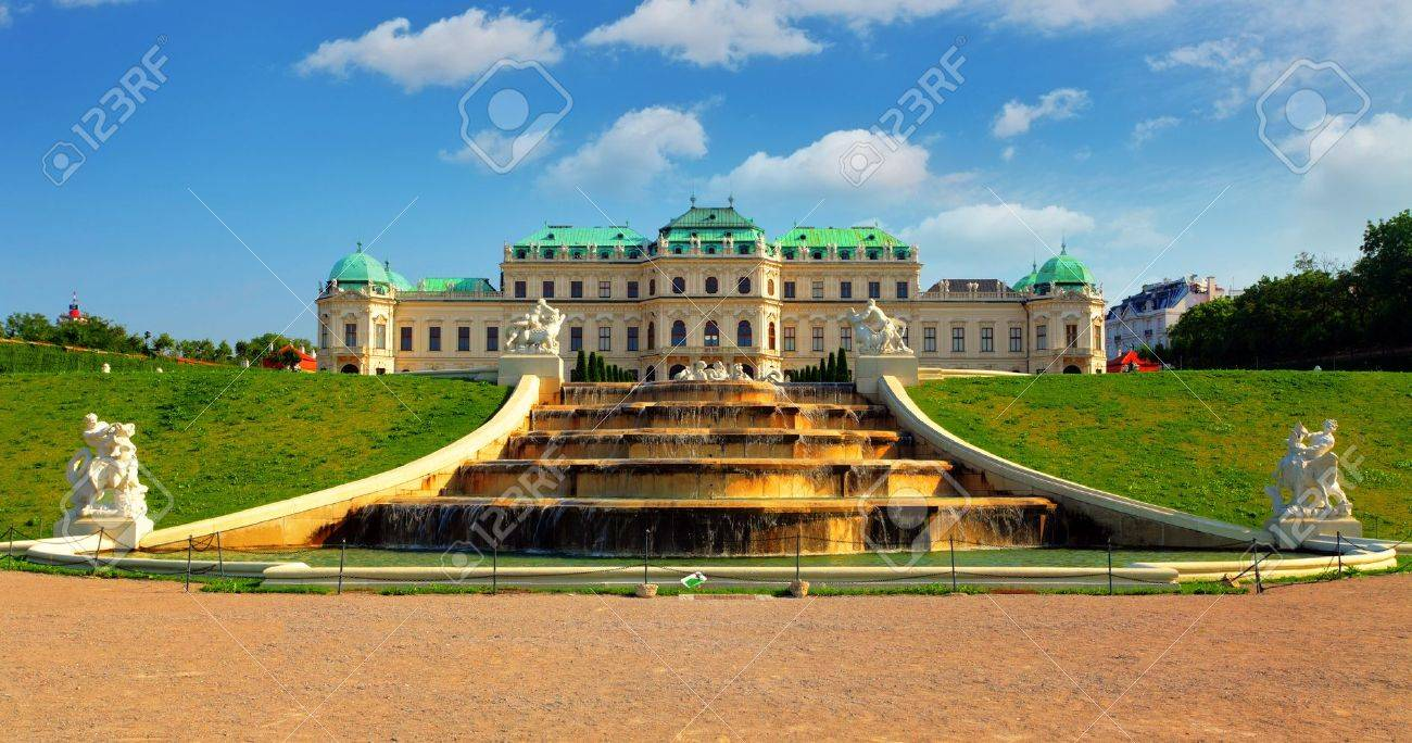 Vienna - Belvedere Palace with flowers - Austria Stock Photo - 17461870