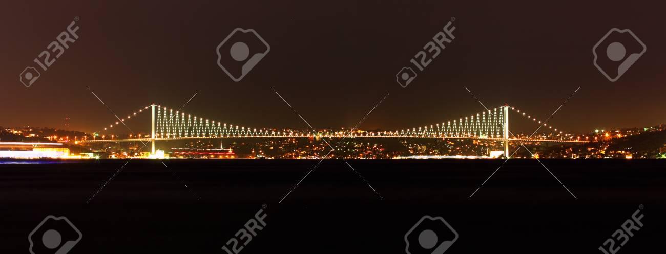 Bosporus bridge at night Stock Photo - 17745522