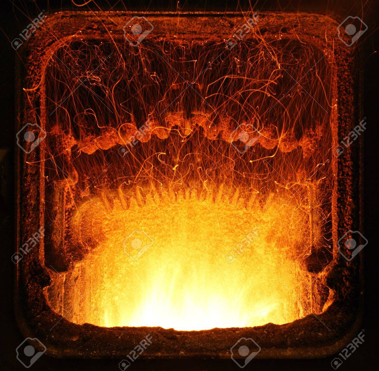fire in furnace stock photo picture and royalty free image
