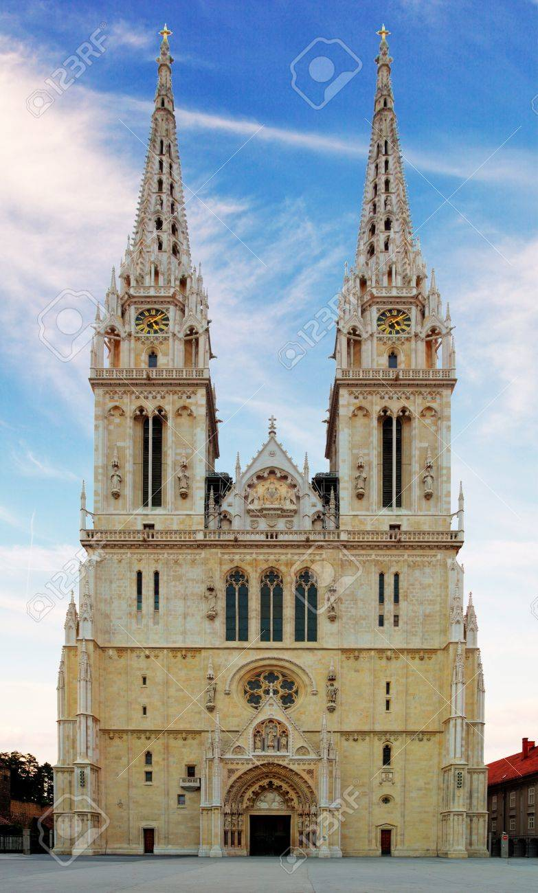 Zagreb Cathedral In Croatia Stock Photo Picture And Royalty Free Image Image 21918141