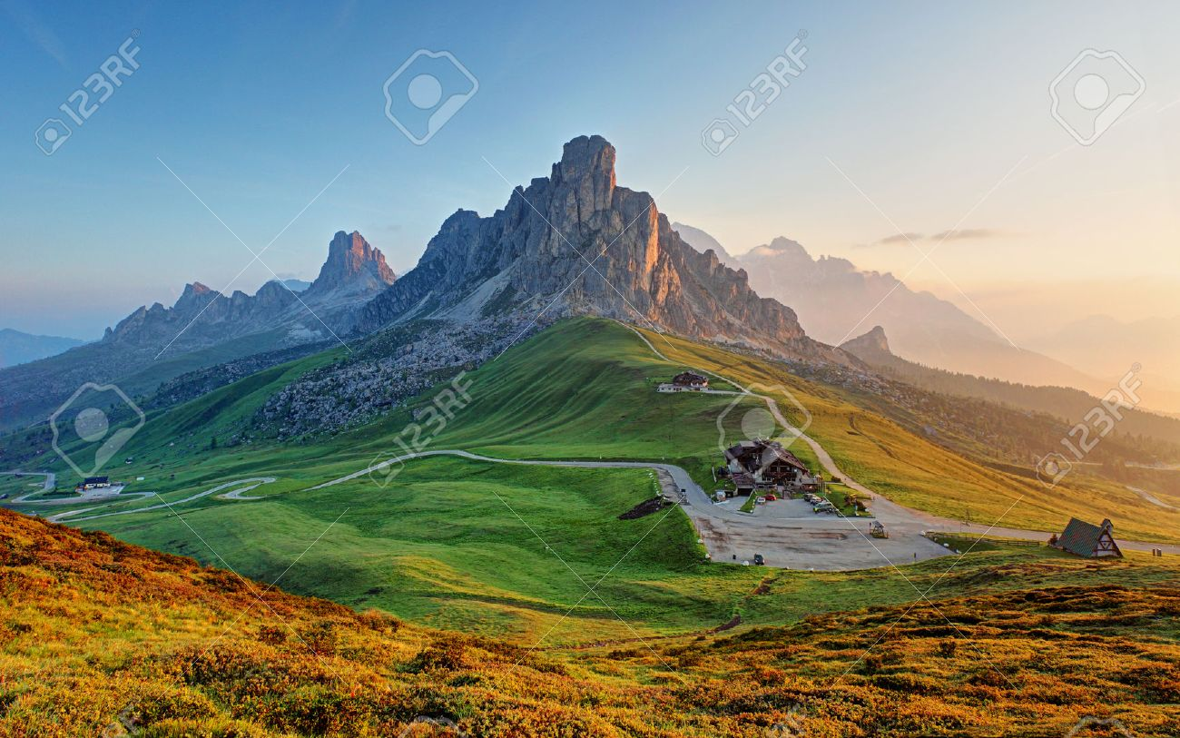 Dolomites Landscape Stock Photo, Picture And Royalty Free Image ...