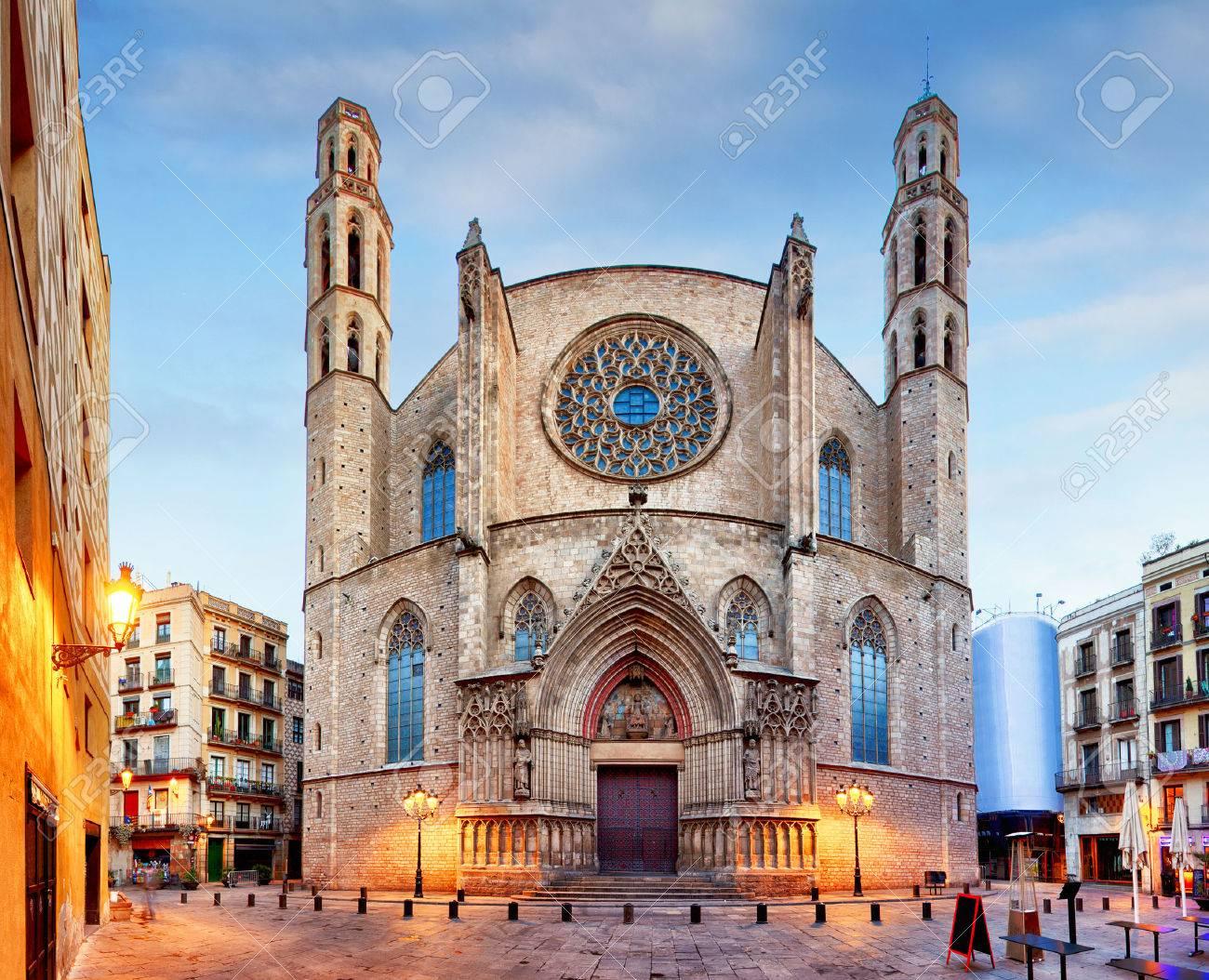 バルセロナのサンタ マリア ダル マル教会 ロイヤリティーフリー