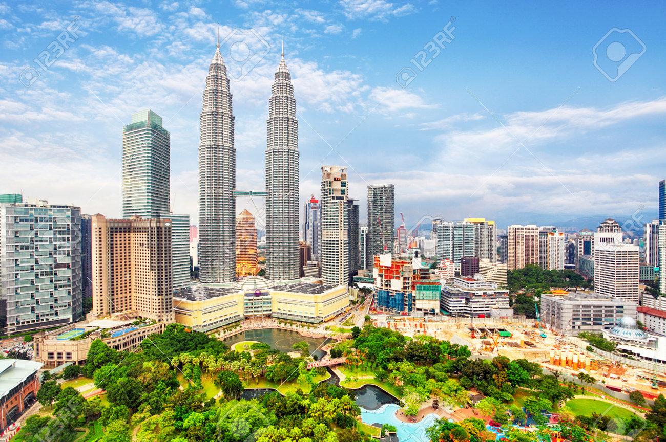 Scenery view of Petronas Twin Tower located in Kuala Lumpur - 54984946