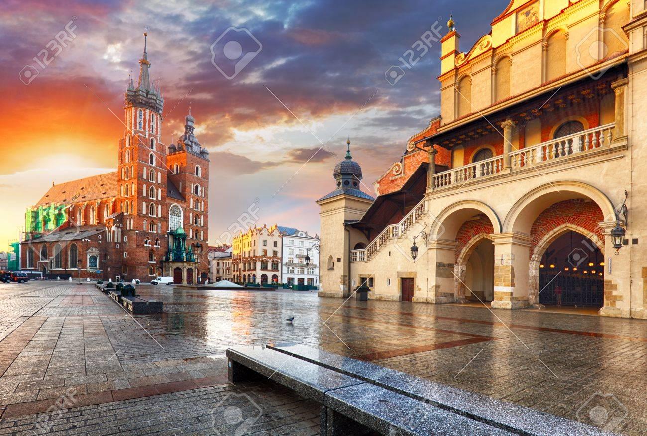 Krakow Market Square, Poland - 65125705