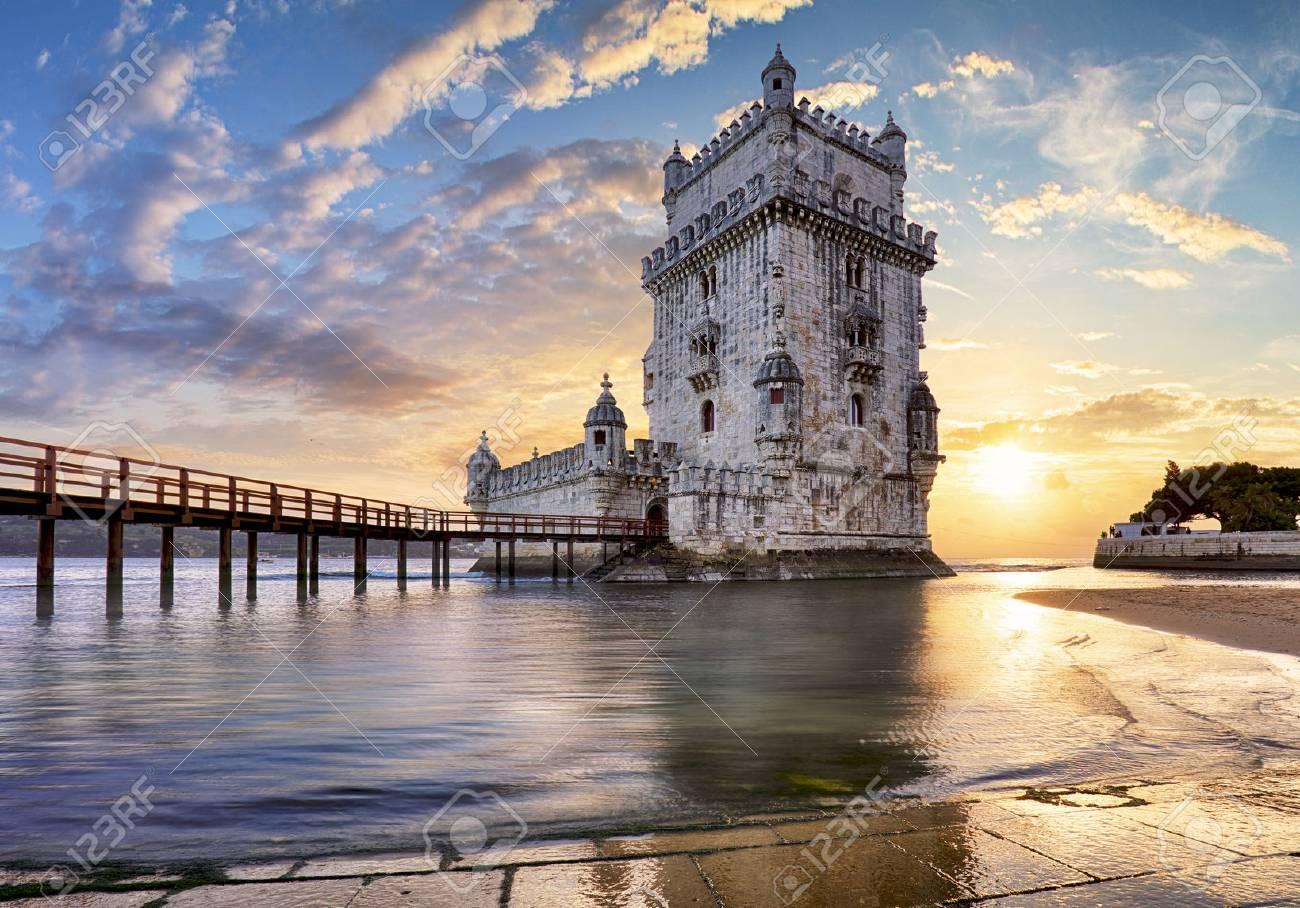 Lisbon, Belem Tower - Tagus River, Portugal - 73036588