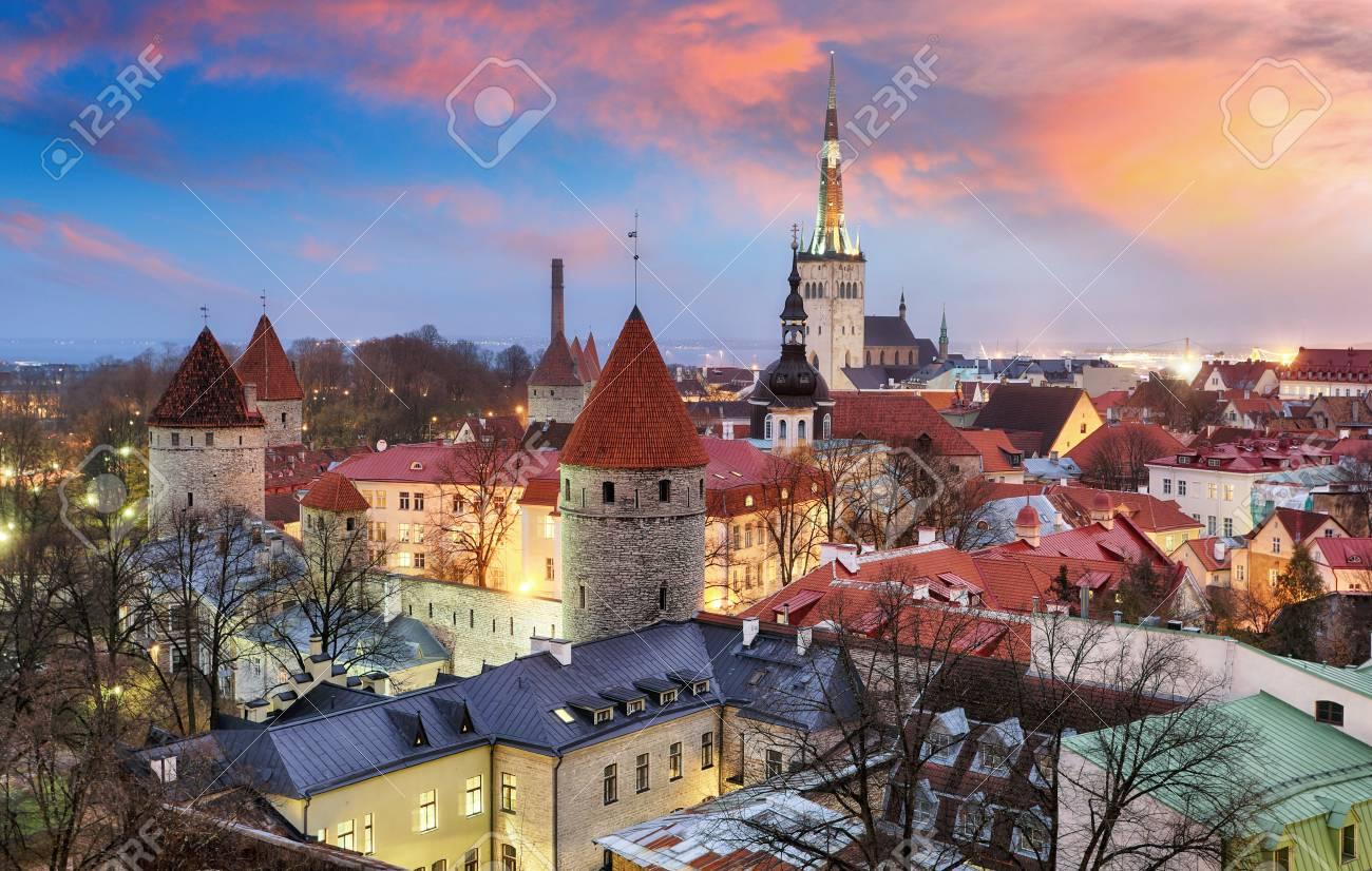 Tallin city, Estonia at sunrise - 80774879
