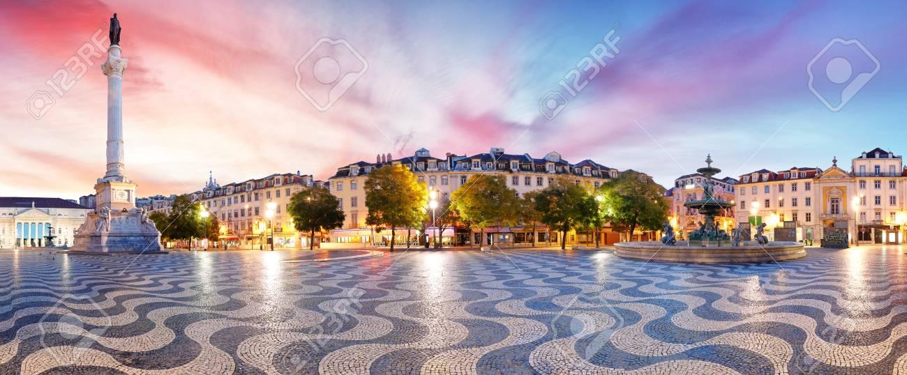 Lisbon panorama in Rossio square, Portugal - 109877841