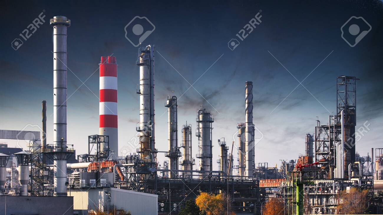 Factory at night, Chemical industry - 120213021
