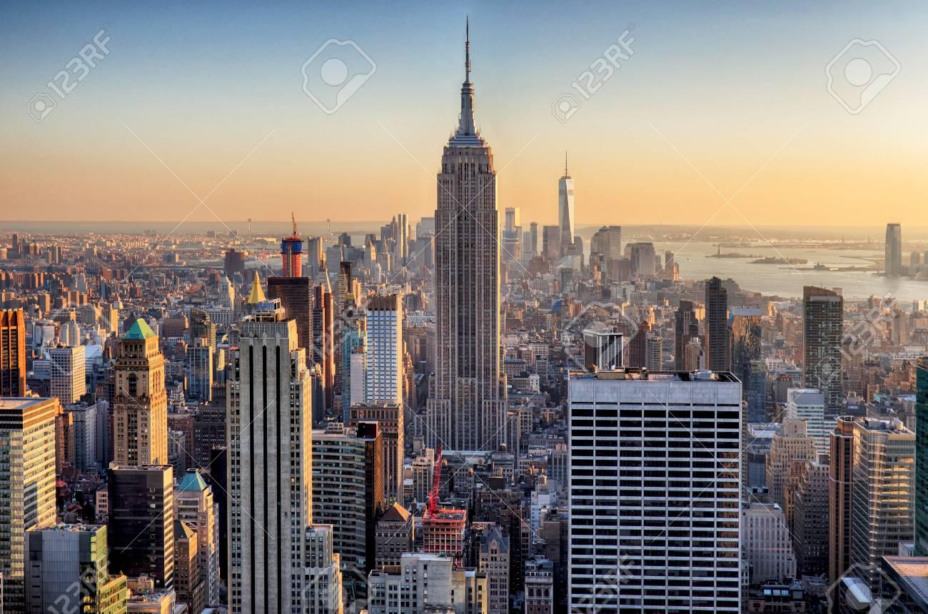 Sunset in Manhattan, New York, USA - 119771015
