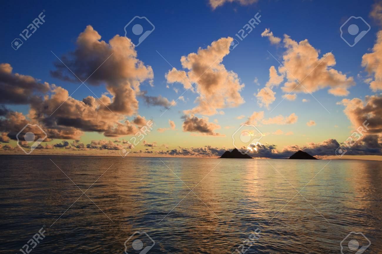 Pacific Sunrise At Lanikai Beach Hawaii