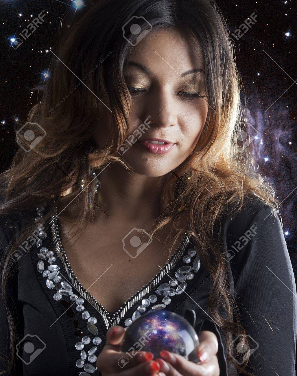 fortune teller with crystal ball Stock Photo - 16116373