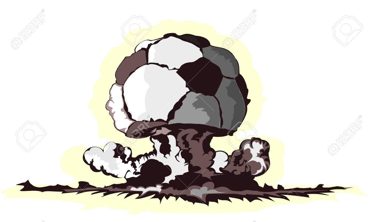 atomic mushroom in form of soccer ball Stock Vector - 8350803