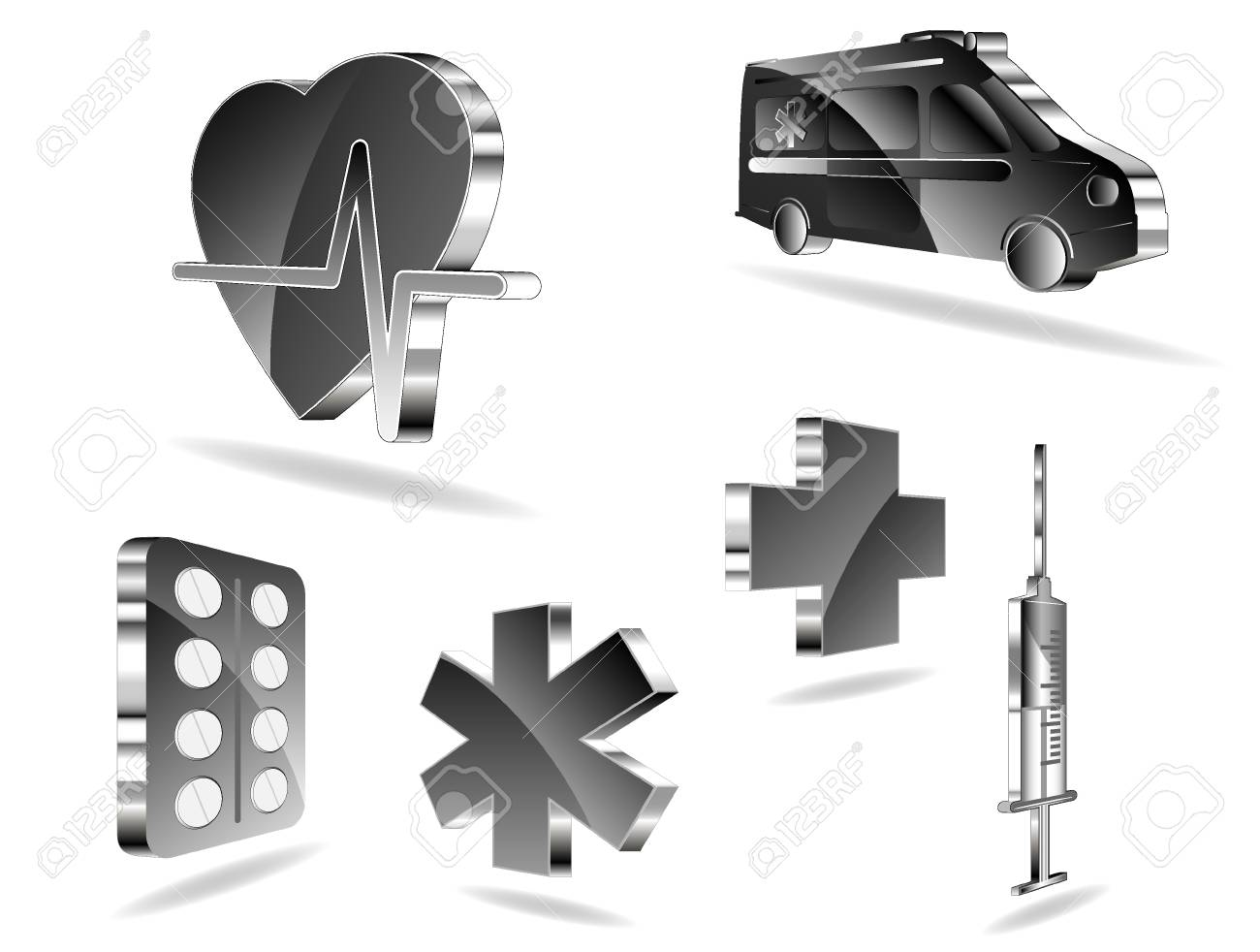 set of medical icons Stock Vector - 9535237