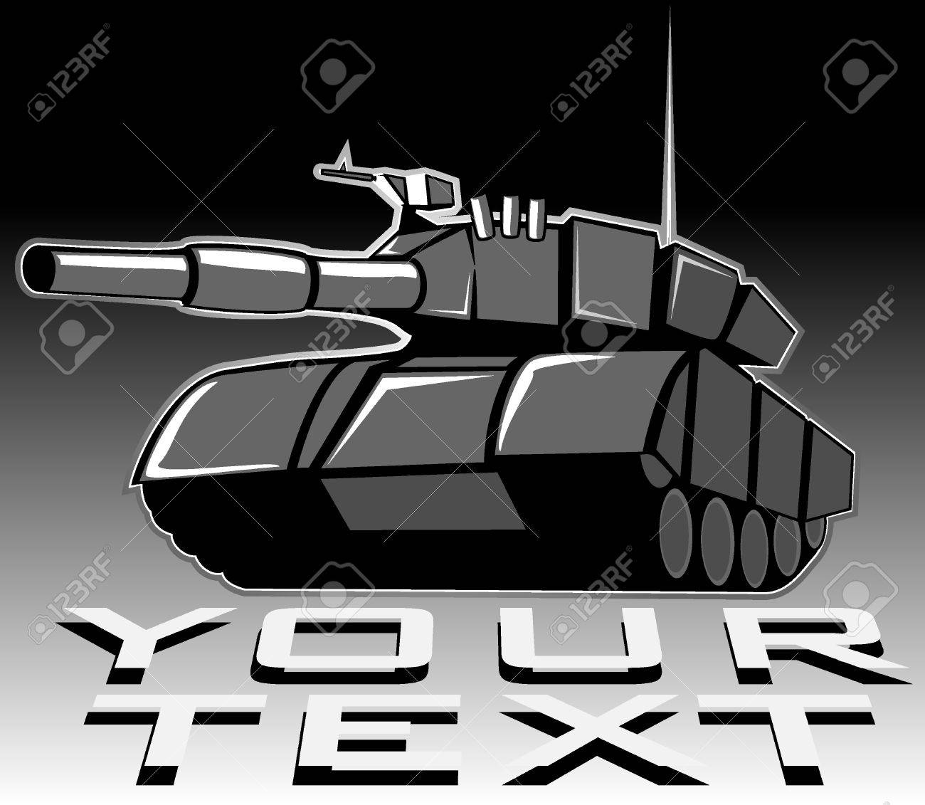 illustration of tank Stock Vector - 10070155