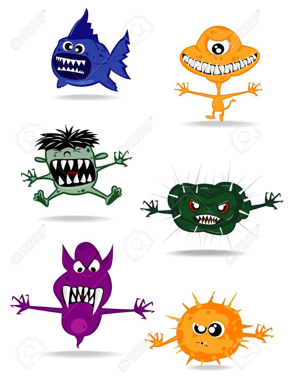 set of monsters. vector 2 Stock Vector - 10318149