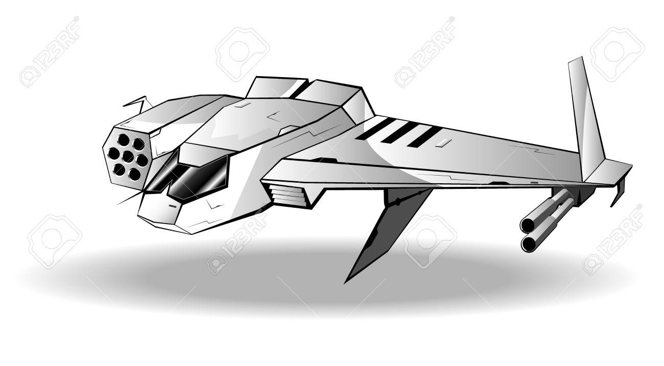 vector illustration of futuristic spaceship vector 8 royalty free rh 123rf com spaceship vector free vector spaceship