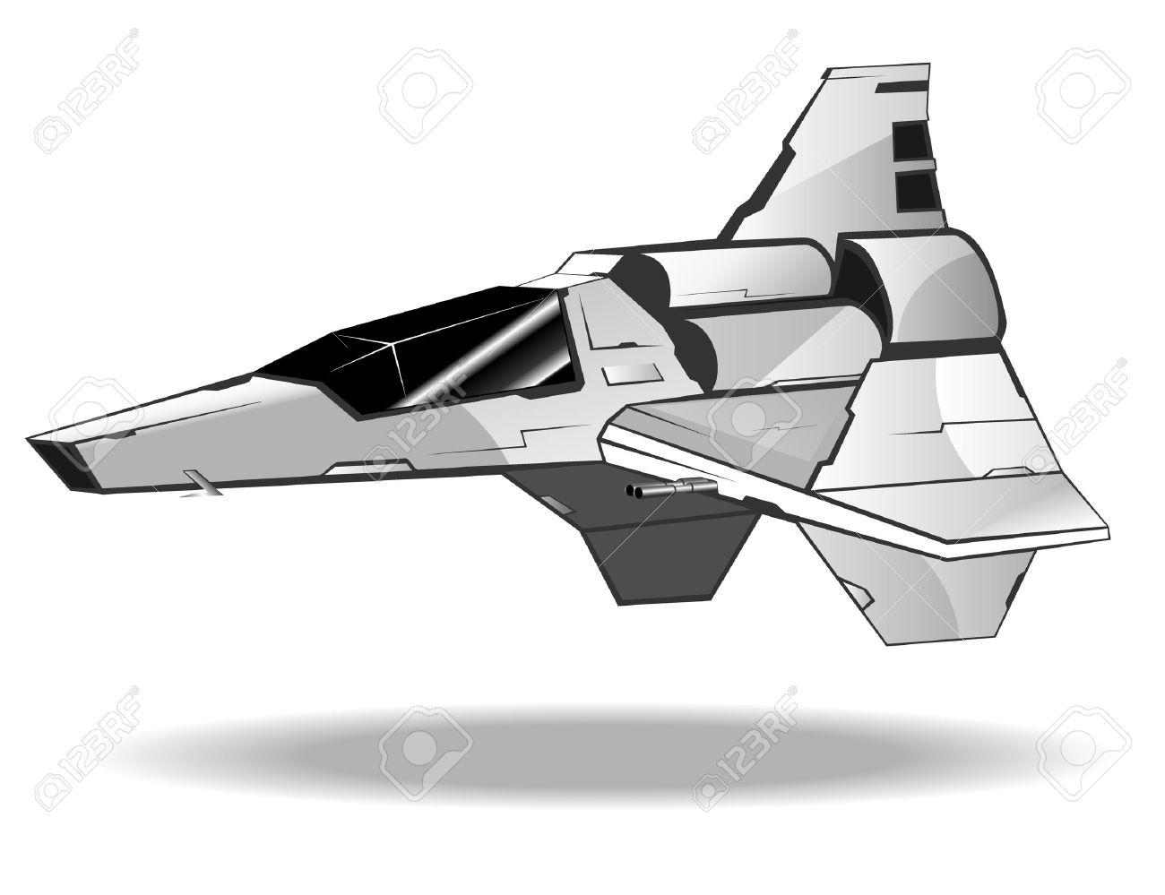 未来の宇宙船のベクトル イラストのイラスト素材ベクタ Image 10779547