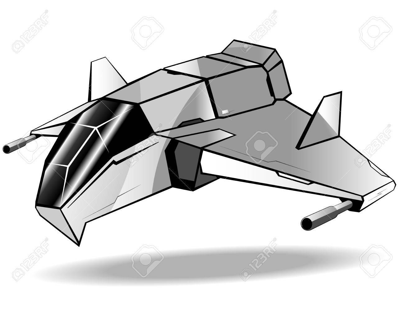 未来の宇宙船のイラストのイラスト素材ベクタ Image 12056244