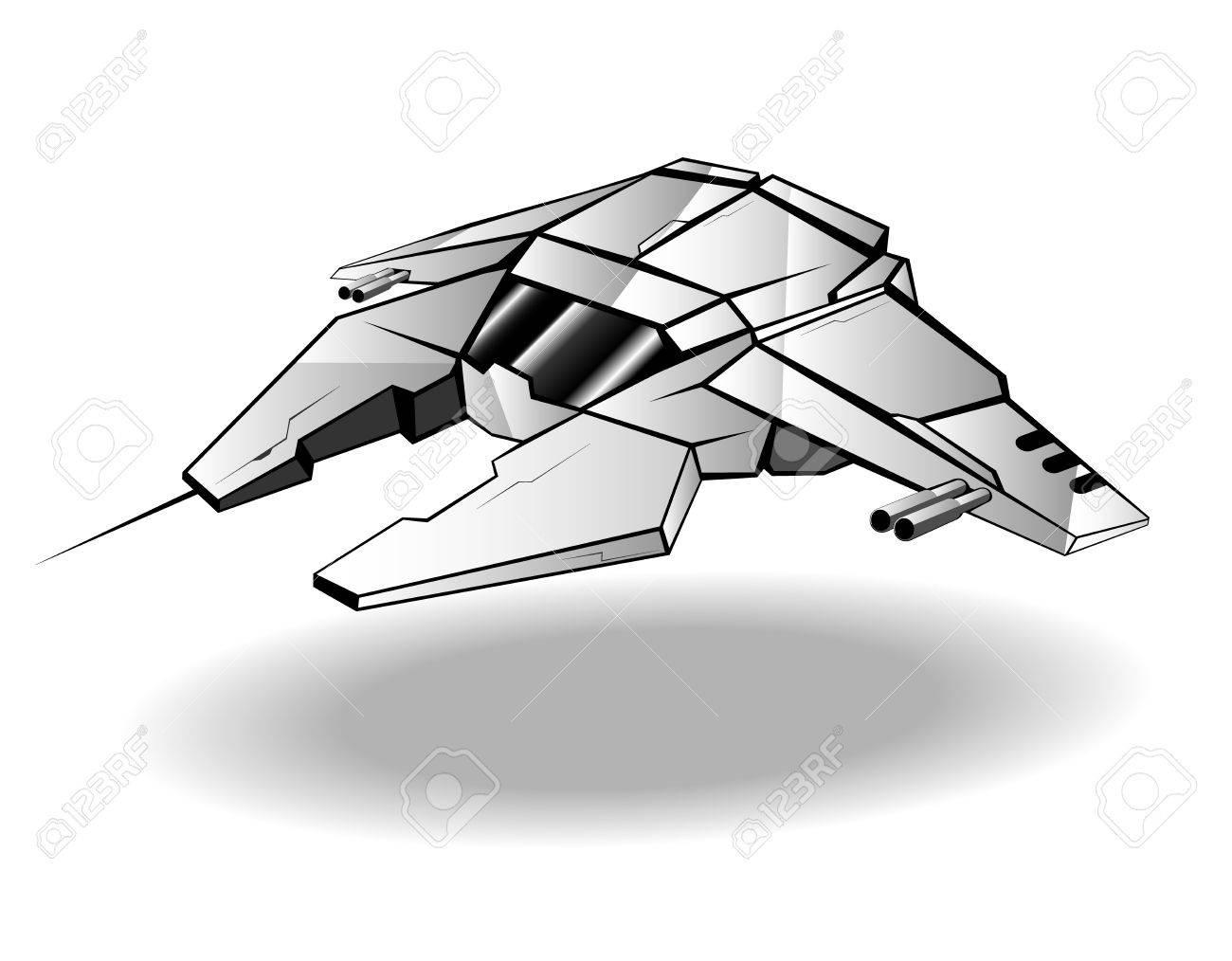 futuristic spaceship. Stock Vector - 12483308