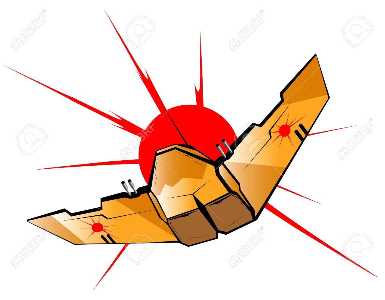 vector illustration of futuristic spaceship Stock Vector - 13251808