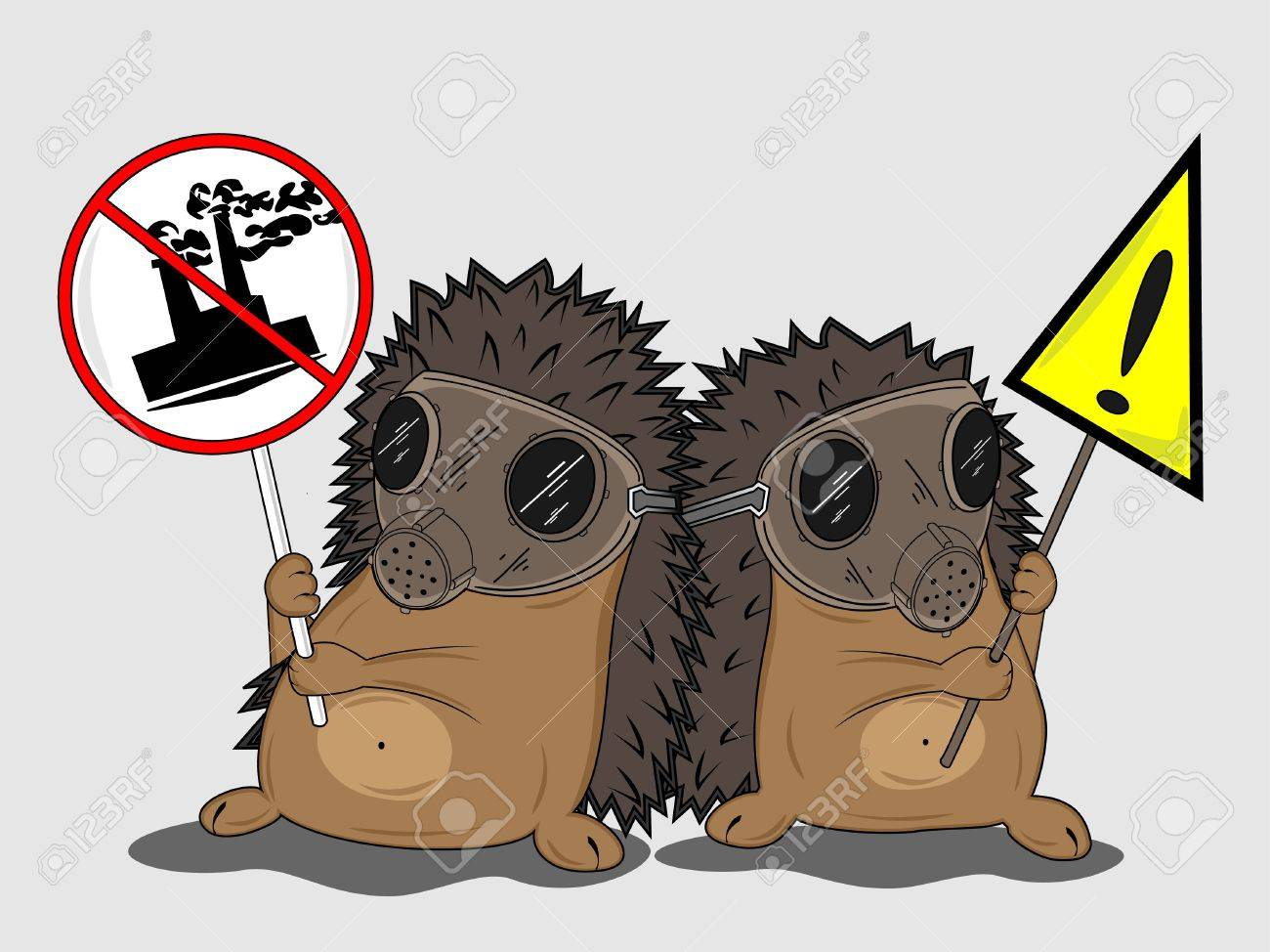 protesting hedgehogs Stock Vector - 16412754