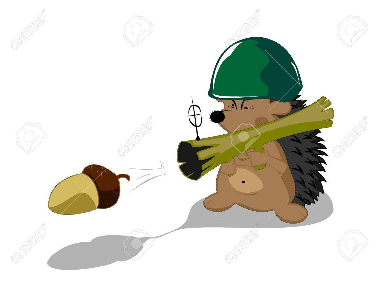 hedgehog forest hero Stock Vector - 16527155