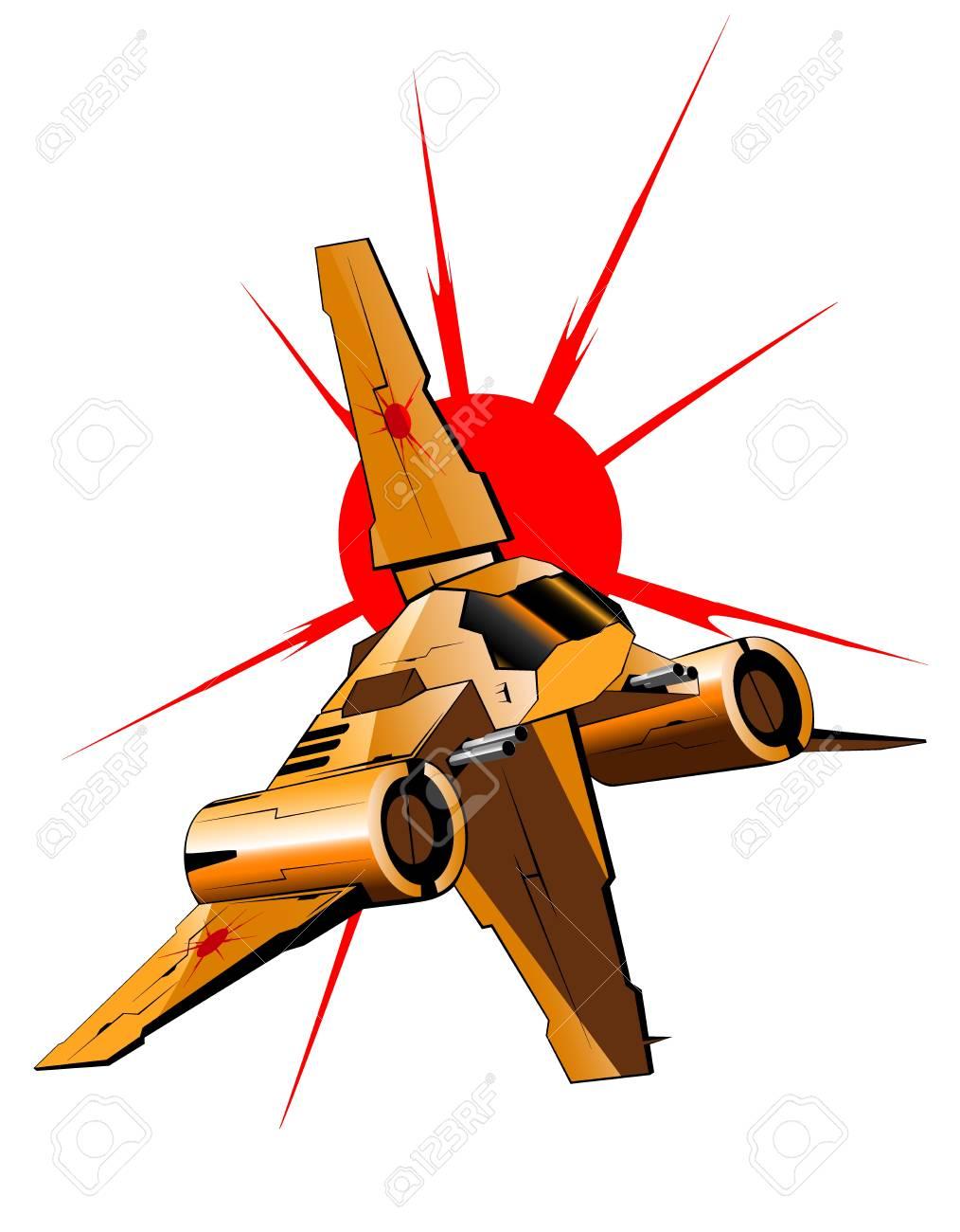 illustration of futuristic spaceship - 16878366