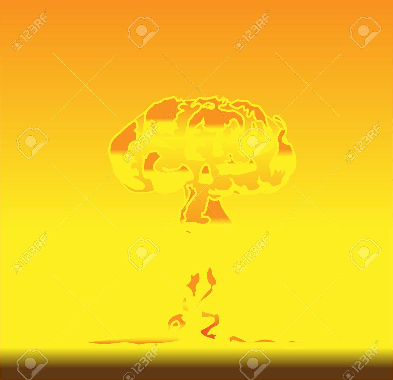 illustration of mushroom after nuclear explosion Stock Vector - 16878368