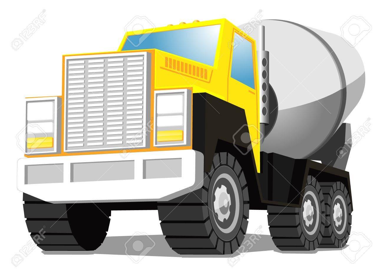 concrete mixer truck Stock Vector - 16984511