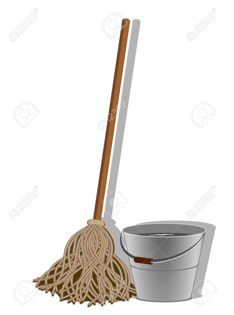 illustration of cleaning service image. Vector 3 Stock Vector - 17379364