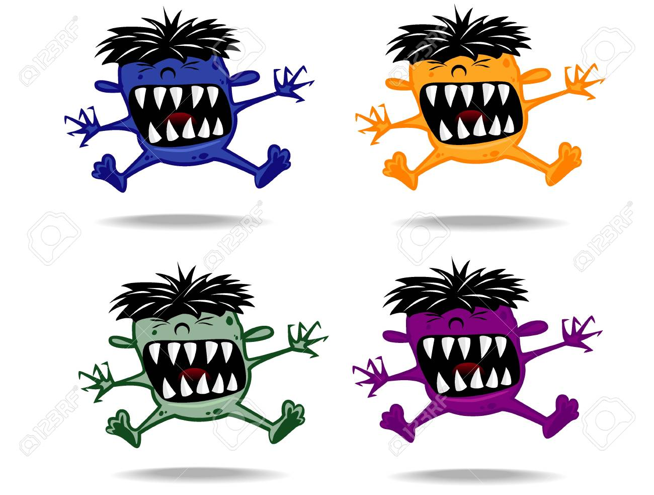set of varicolored funny monsters Stock Vector - 17444342