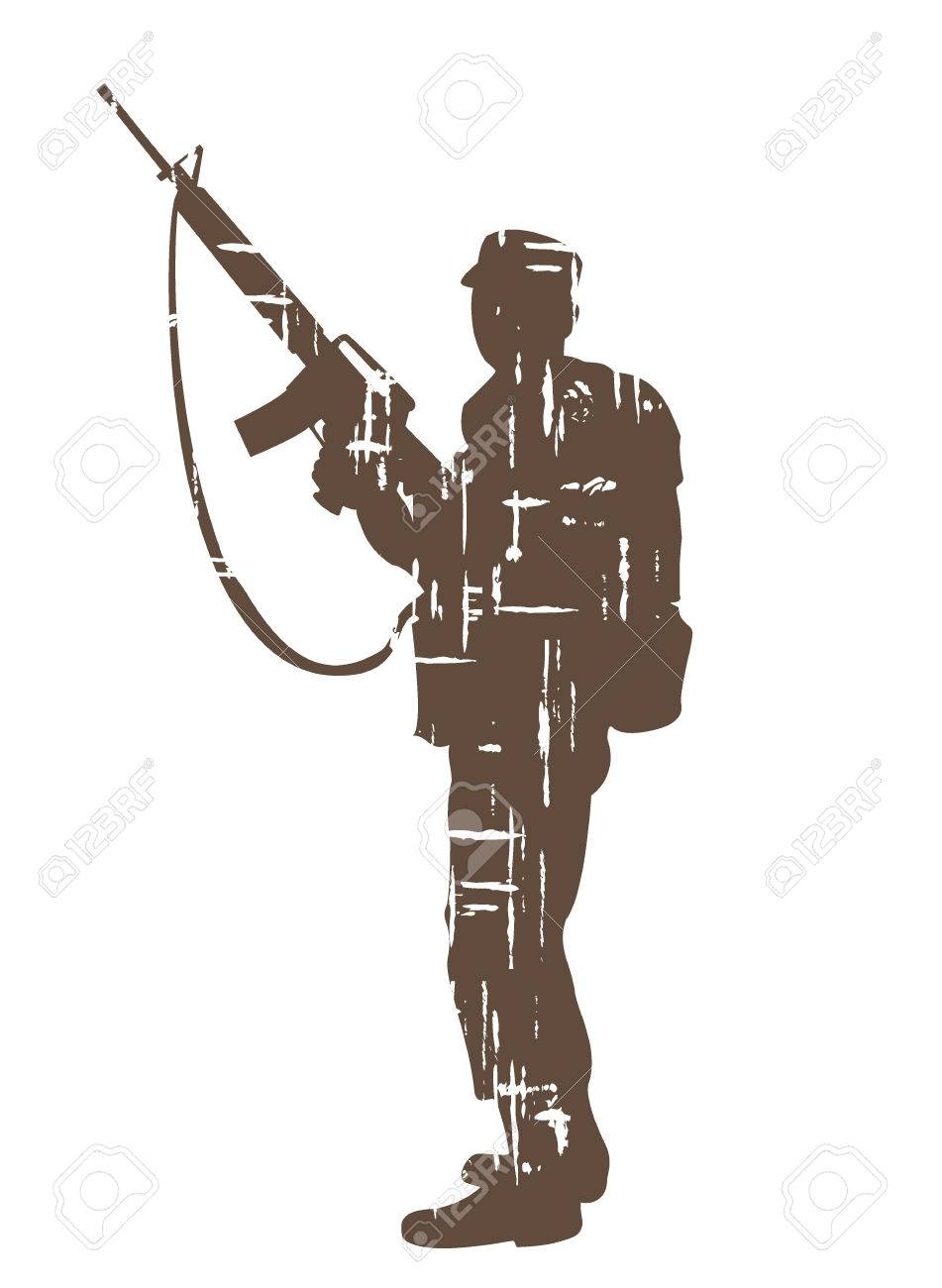 silhouettes of soldiers in grunge style vector illustration royalty rh 123rf com soldier vector free vector soldier