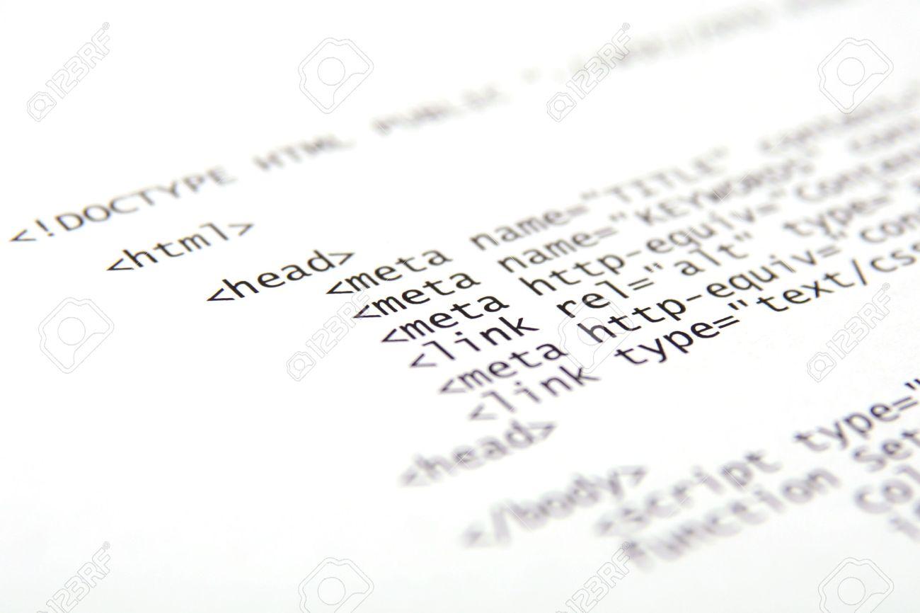 Background image html code - Html Code Printed Internet Html Code Technology Background Stock Photo