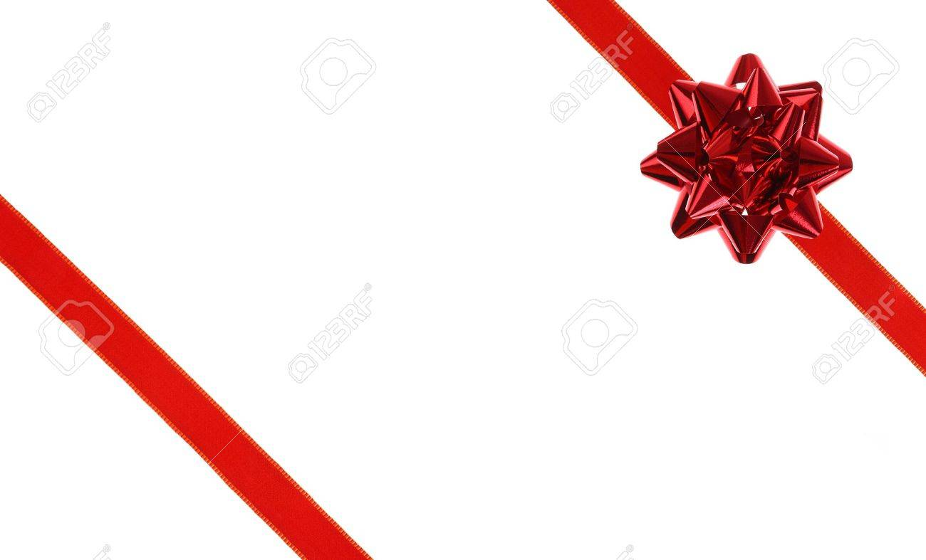 red holiday ribbon bow on white background stock photo picture and