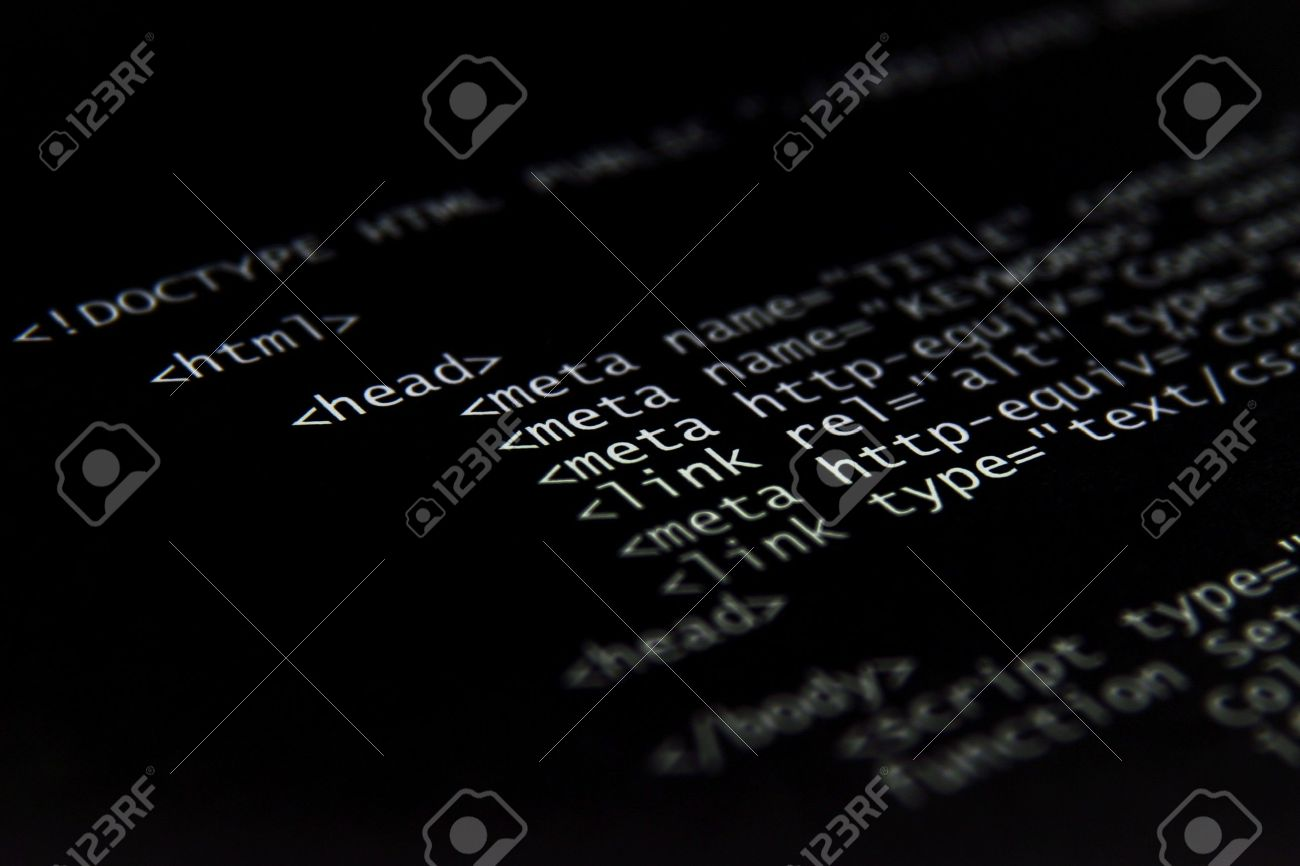 A background image html - Internet Html Code Technology Black Background Stock Photo 4010012