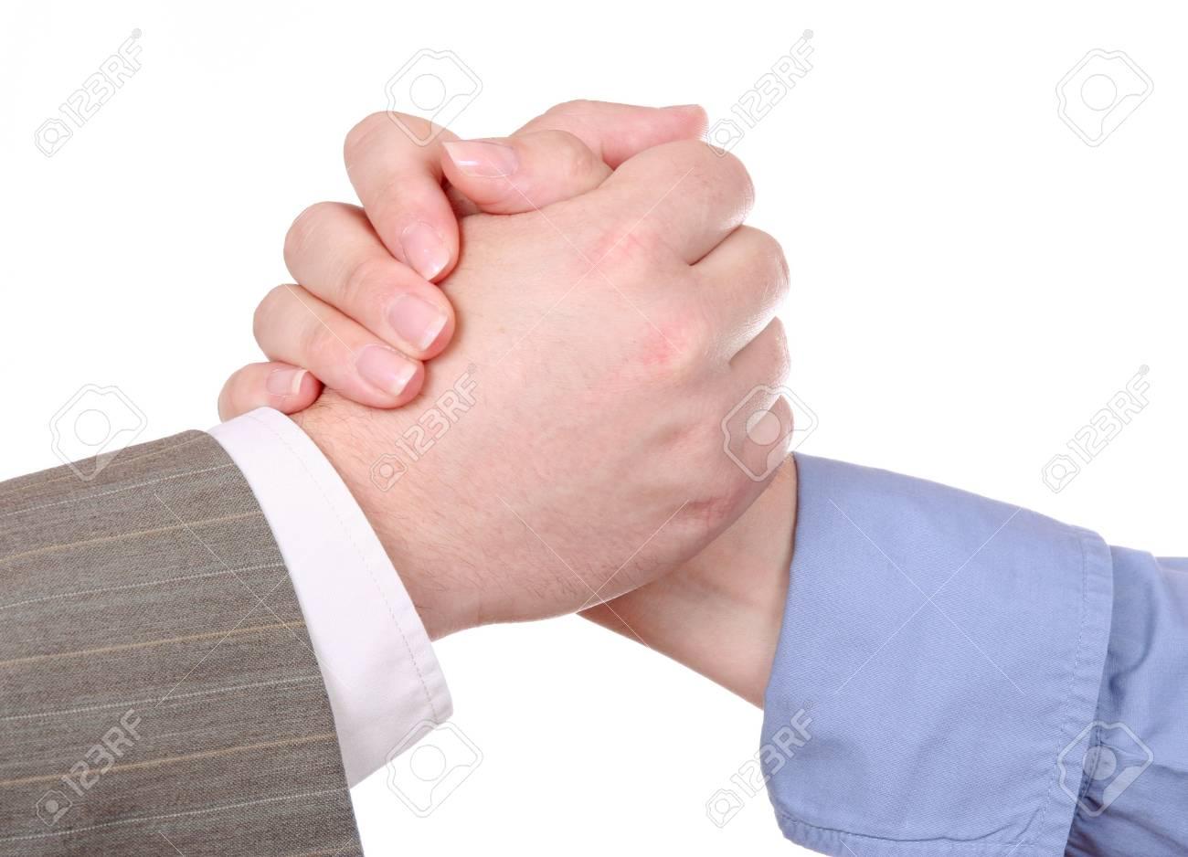 Handshake isolated on white background Stock Photo - 4055577