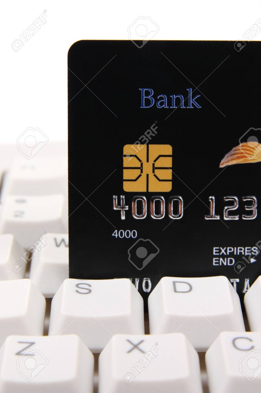 Credit card on a computer keyboard Stock Photo - 4105898