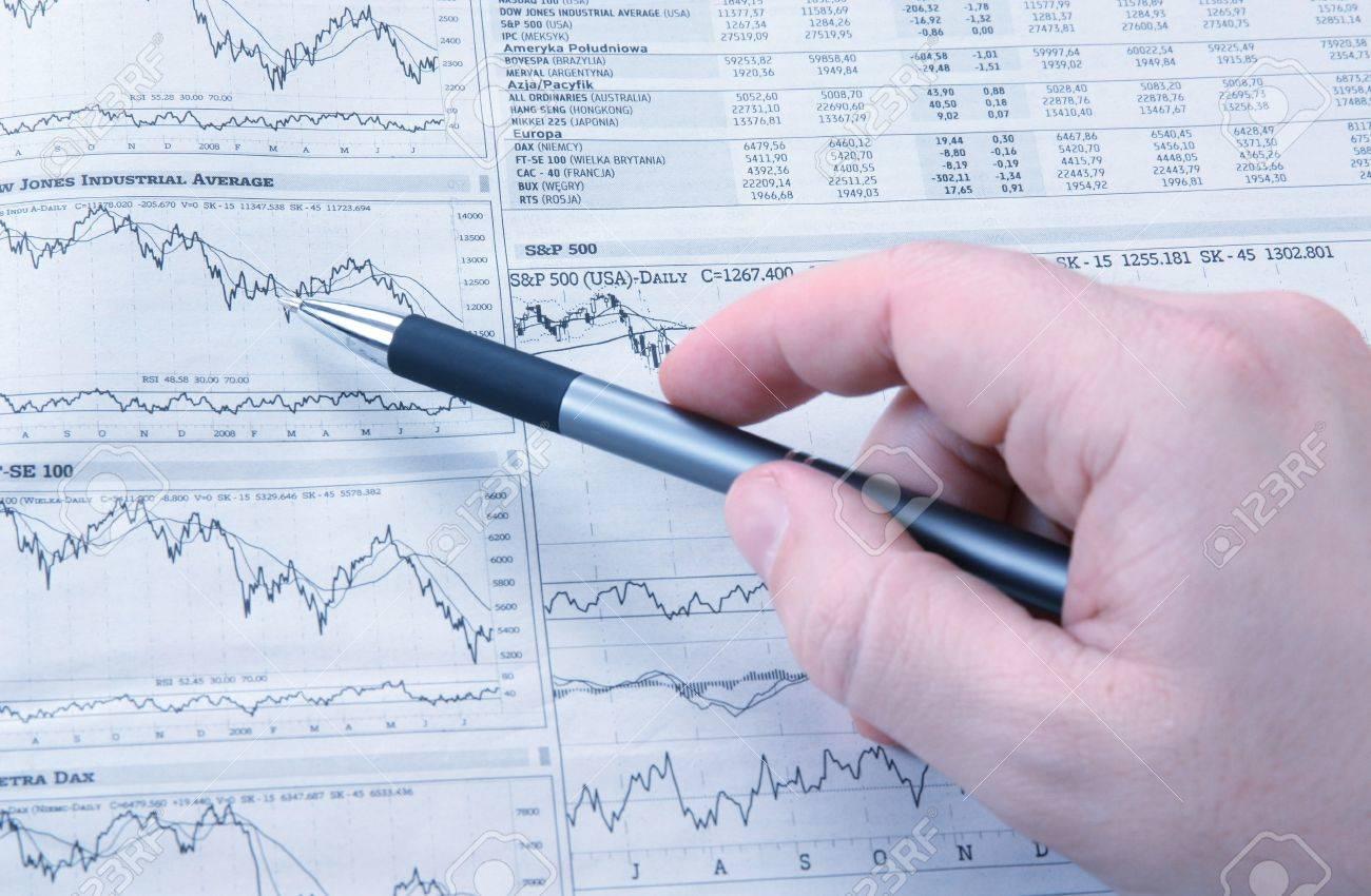Analysis Of Market News Financial Background Photo – Stock Market Analysis