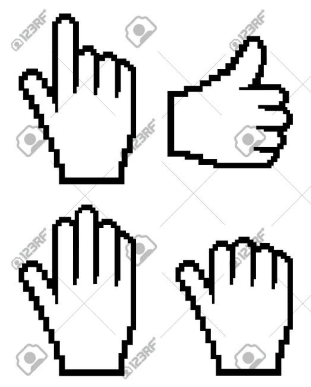 Set of computer hand  (web cursor)  Vector Stock Vector - 4363573