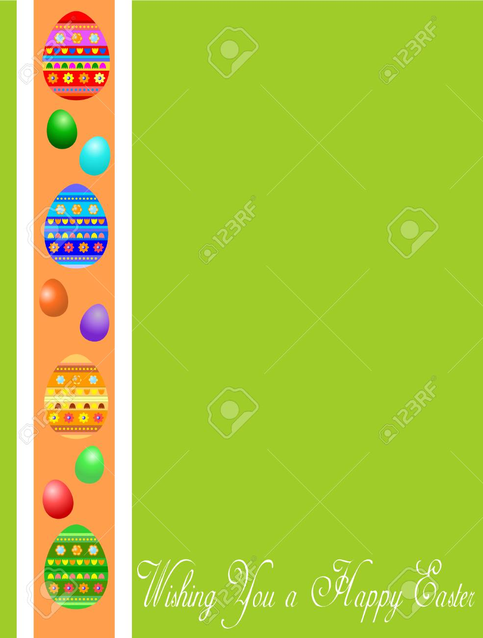 green Easter greeting card witj eggs Stock Vector - 4408754