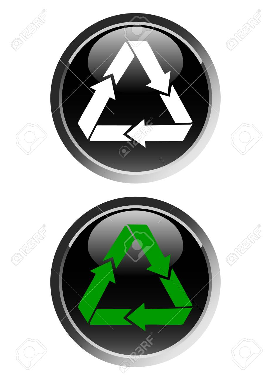 Recycling symbol web icon Stock Vector - 4454298
