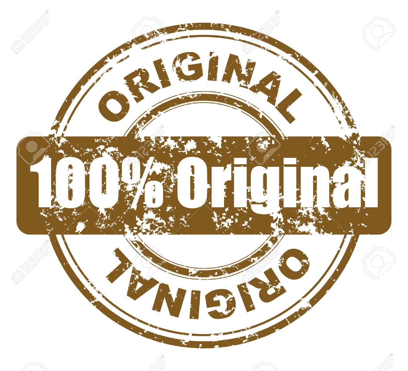 grunge stamp with 100% original Stock Vector - 4472884