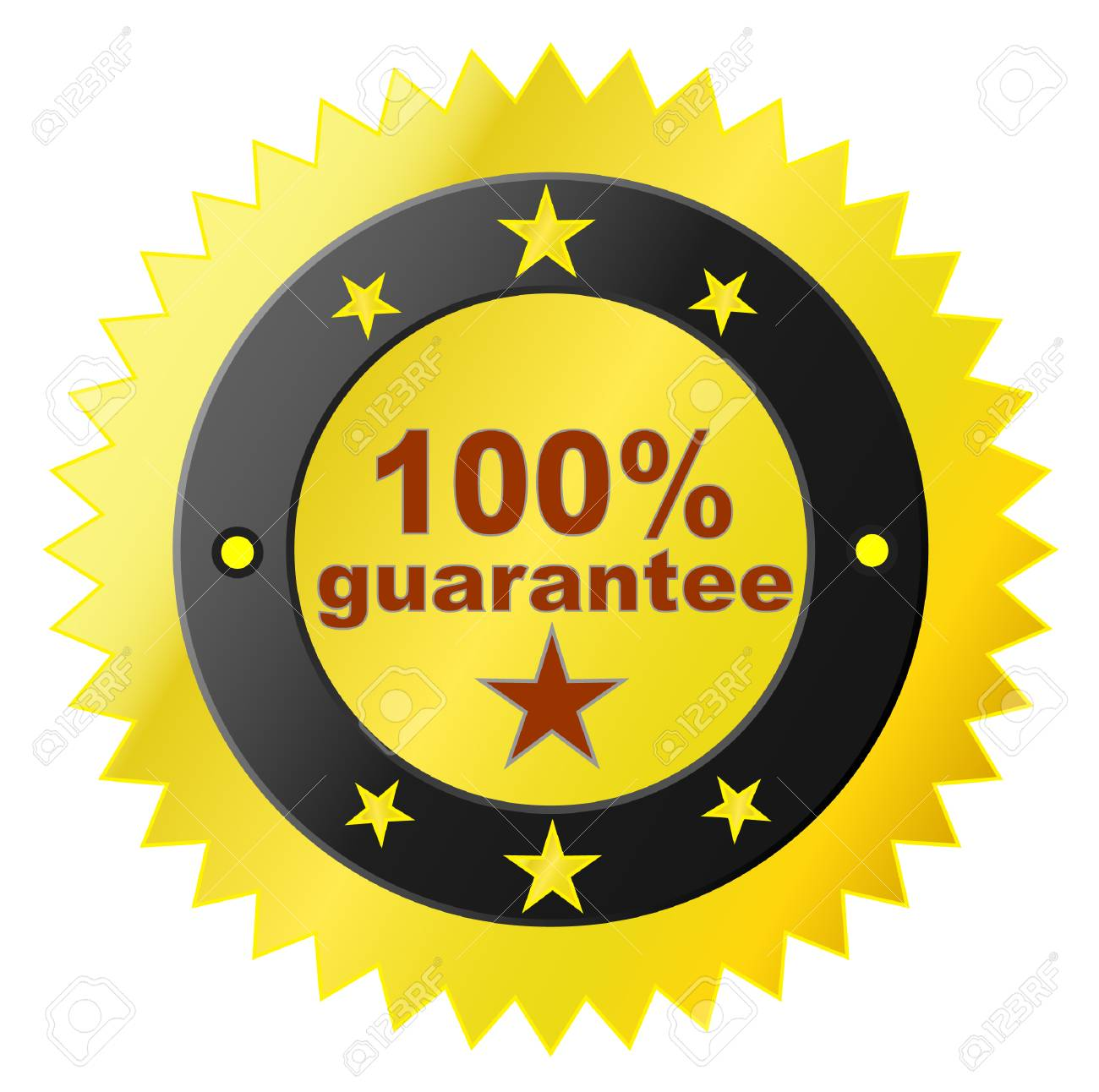 Vector sticker with satisfaction guarantee Stock Vector - 4603522