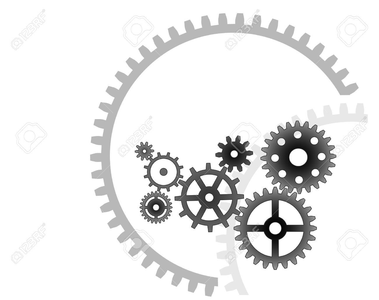 Various cogwheels, industrial background Stock Vector - 4671312