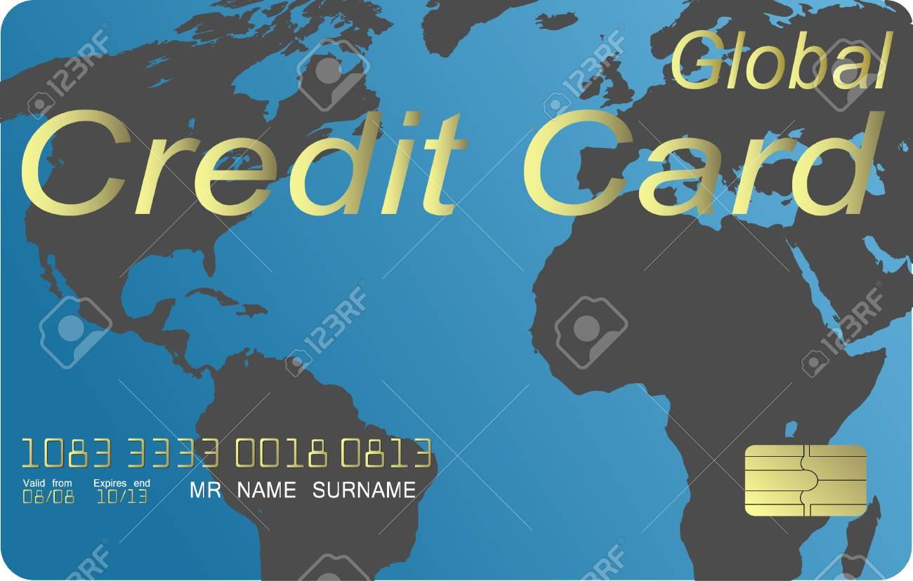 Global credit card vector Stock Vector - 4711374