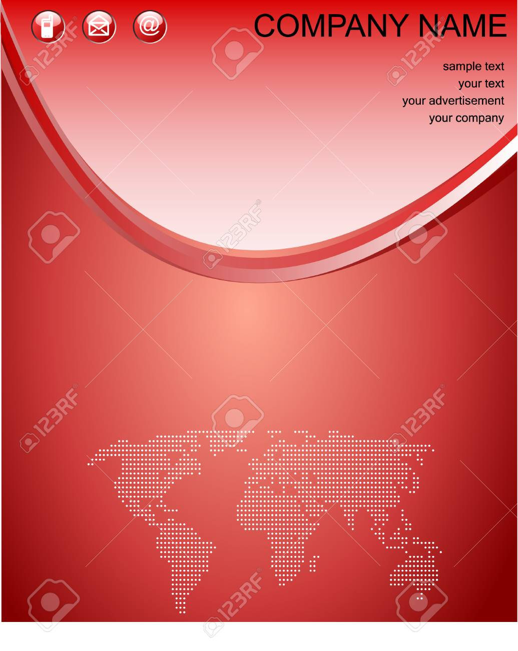 red web background with copy space, vector Stock Vector - 4788615