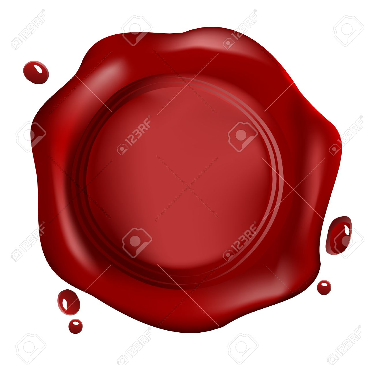 red wax seal vector royalty free cliparts vectors and stock rh 123rf com wax seal vector tutorial wax seal stamp vector