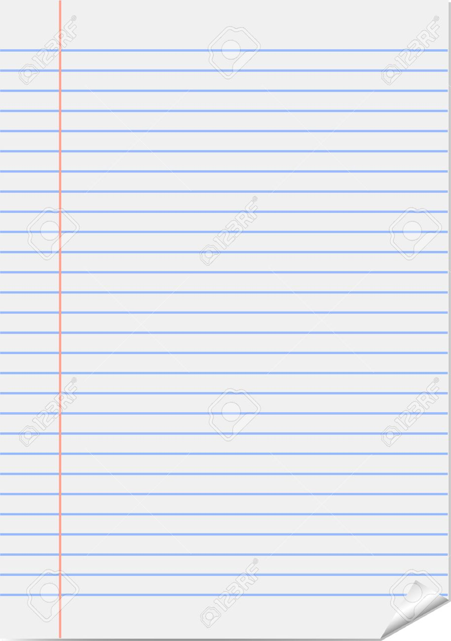 vector page from notepad (notebook paper) royalty free cliparts