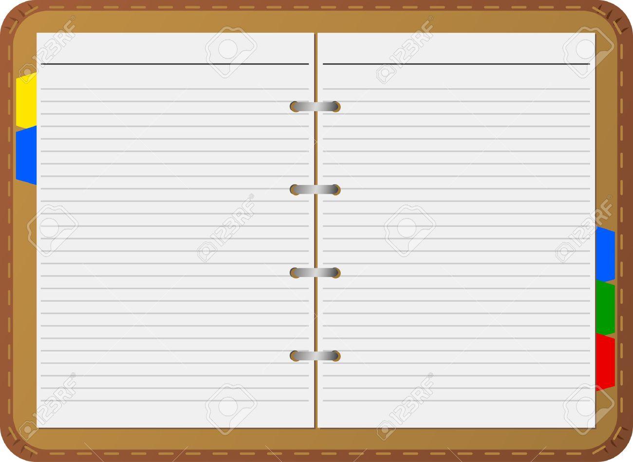Open notepad, vector, detailed Stock Vector - 5270662