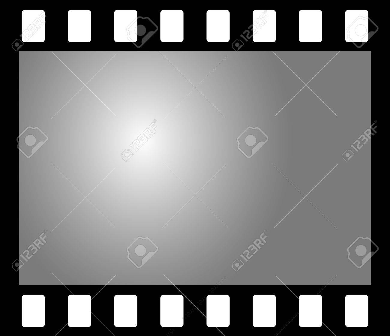 Old b&w negative photo film Stock Vector - 5270658